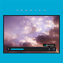 Black blue video player