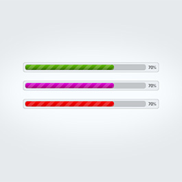 Colored progressbars