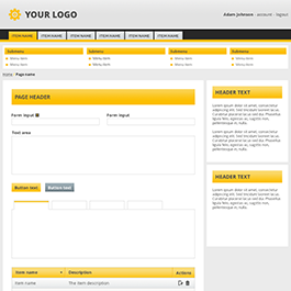 Admin template 1